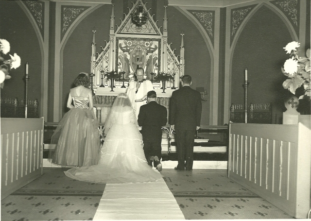 My parents' wedding ceremony- 1952